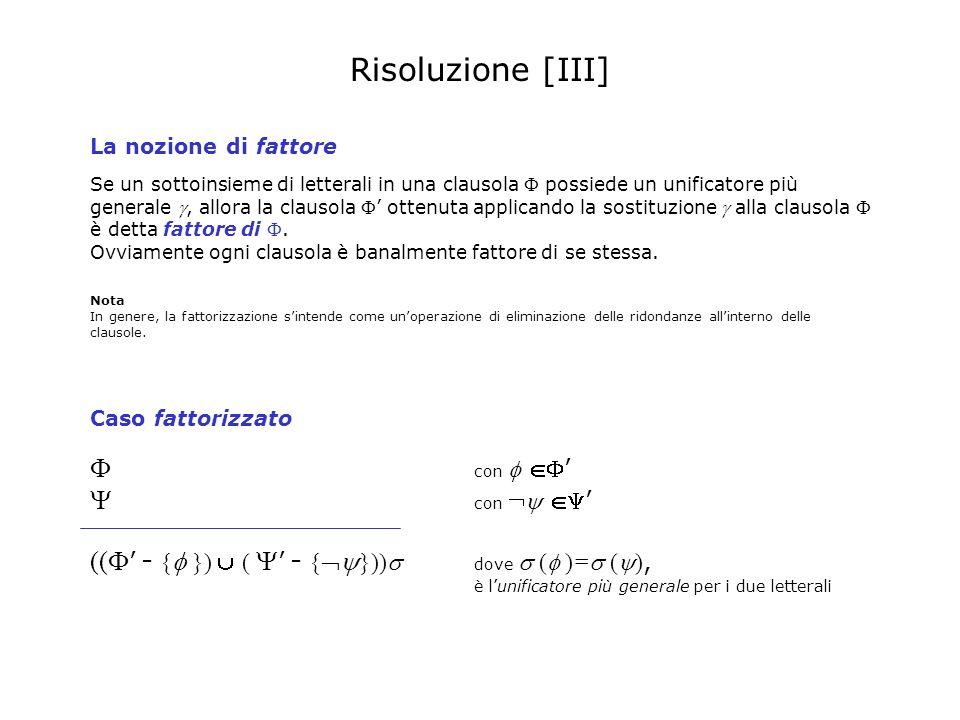 Risoluzione [III]  con  '  con  '
